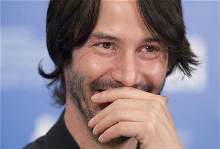 Actor Keanu Reeves attends a news conference to promote the film ''Henry's Crime'' during the 35th Toronto International Film Festival, September 14, 2010. REUTERS/Fred Thornhill