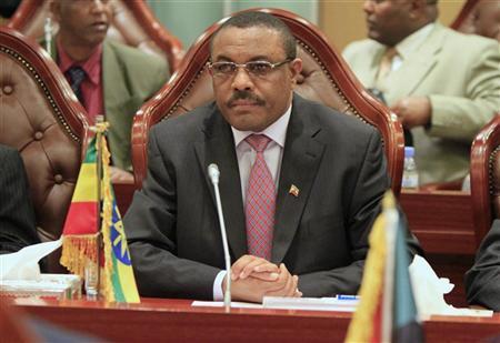 Hailemariam Desalegn attends the Joint Political Committee meeting between Sudan and Ethiopia in Khartoum December 24, 2011. REUTERS/ Mohamed Nureldin Abdallah