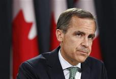 Bank of Canada Governor Mark Carney listens to a question during a news conference upon the release of the Monetary Policy Report in Ottawa July 18, 2012. REUTERS/Chris Wattie
