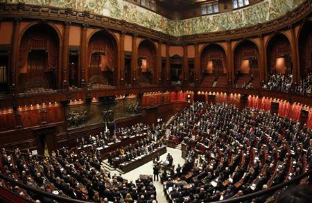 The Italian parliament is seen during a finance vote at the parliament in Rome November 8, 2011. REUTERS/Tony Gentile