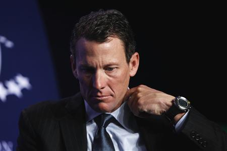 Lance Armstrong, founder of the LIVESTRONG foundation, takes part in a special session regarding cancer in the developing world during the Clinton Global Initiative in New York in this September 22, 2010 file photo. REUTERS/Lucas Jackson/Files
