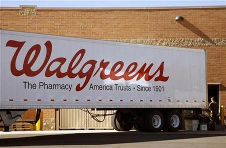 A Walgreens truck unloads at a store in Westminster, Colorado October 30, 2008. REUTERS/Rick Wilking