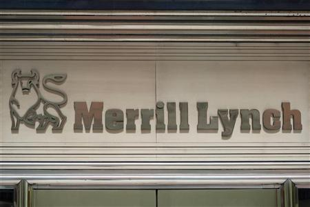 The Merrill Lynch logo is seen on a building in New York, May 7, 2012. REUTERS/Keith Bedford