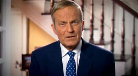 Still image taken from an online video shows U.S. Representative Todd Akin issuing an apology through his official Congressional website August 21, 2012. REUTERS/akin.house.gov/Handout