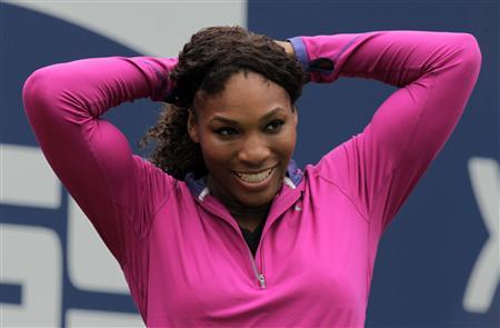 Serena Williams of the U.S. participates in Arthur Ashe Kids' Day at the 2012 U.S. Open tennis tournament in New York August 25, 2012. REUTERS/Eduardo Munoz
