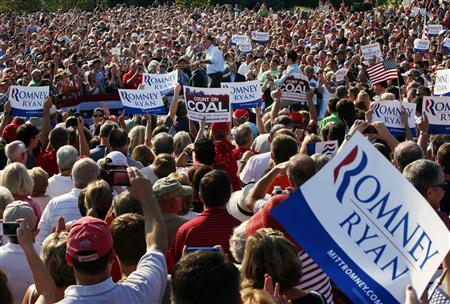 Republican presidential candidate and former Massachusetts Governor Mitt Romney speaks at a campaign rally in Powell, Ohio August 25, 2012. REUTERS/Brian Snyder