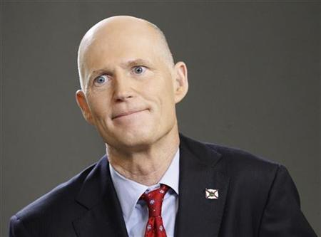 Florida Governor Rick Scott speaks during an interview in New York, March 26, 2012. REUTERS/Brendan McDermid