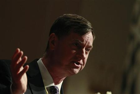 Chicago Federal Reserve Bank President Charles Evans speaks during the Sasin Bangkok Forum July 9, 2012. REUTERS/Sukree Sukplang
