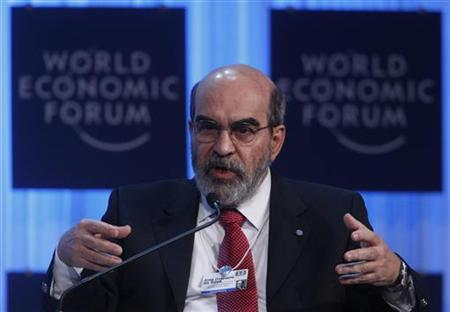 Jose Graziano da Silva, Director-General, Food and Agriculture Organization of the United Nations (FAO), attends a session at the World Economic Forum (WEF) in Davos, January 26, 2012. REUTERS/Christian Hartmann