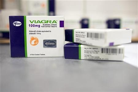 Boxes of counterfeit Viagra seized by the U.S. Customs & Border Protection are seen at the agency's offices at John F. Kennedy Airport in New York August 15, 2012. REUTERS/Keith Bedford