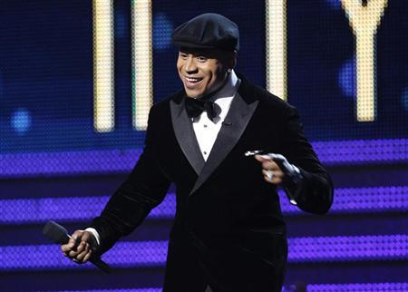 This year's host LL Cool J performs at the 54th annual Grammy Awards in Los Angeles, California, February 12, 2012. REUTERS/ Mario Anzuoni
