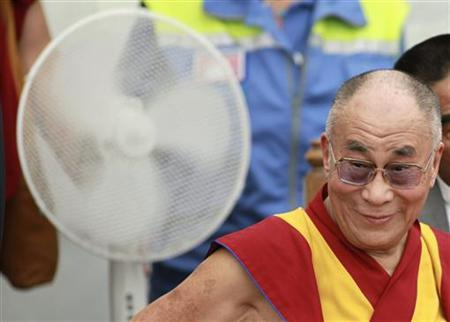 Tibet's exiled spiritual leader the Dalai Lama sits in in Mirandola on June 24, 2012. REUTERS/Giorgio Benvenuti/Files