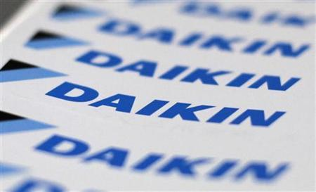 The logos of Daikin Industries Ltd are seen at the company's office in Tokyo August 29, 2012. REUTERS/Toru Hanai