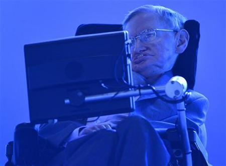 British physicist Stephen Hawking sits in the Olympic Stadium during the opening ceremony of the London 2012 Paralympic Games August 29, 2012. REUTERS/Toby Melville