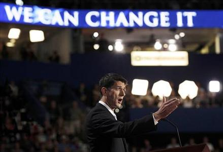 Republican vice presidential nominee Rep. Paul Ryan addresses the third session of the Republican National Convention in Tampa, Florida August 29, 2012. REUTERS/Shannon Stapleton