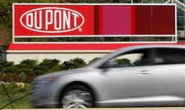 A view of the Dupont logo on a sign at the Dupont Chestnut Run Plaza facility near Wilmington, Delaware, April 17, 2012. REUTERS/Tim Shaffer