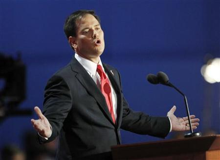 U.S. Senator Marco Rubio (R-FL) addresses the final session of the 2012 Republican National Convention in Tampa, Florida August 30, 2012. REUTERS/Joe Skipper