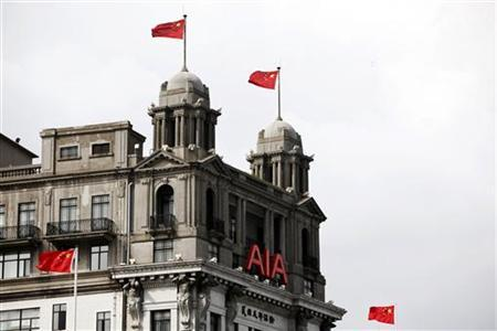 The AIA building is seen in Shanghai October 22, 2010. REUTERS/Aly Song