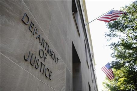 The exterior of the U.S. Department of Justice headquarters building in Washington, July 14, 2009. REUTERS/Jonathan Ernst