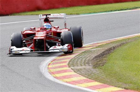 Ferrari Formula One driver Fernando Alonso of Spain drives during the third practice session of the Belgian F1 Grand Prix in Spa Francorchamps September 1, 2012. REUTERS/Sebastien Pirlet