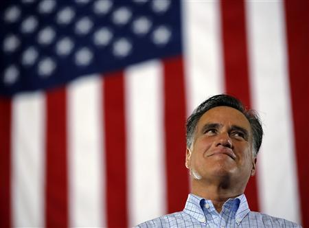 Republican presidential candidate and former Massachusetts Governor Mitt Romney speaks at a campaign rally in Cincinnati, Ohio September 1, 2012. REUTERS/Brian Snyder