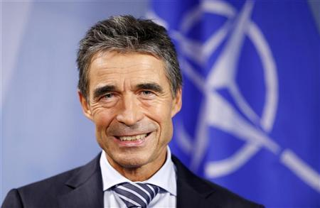 NATO Secretary General Anders Fogh Rasmussen poses during an interview with Reuters at the Alliance headquarters in Brussels September 3, 2012. REUTERS/Francois Lenoir