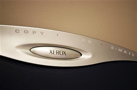 A generic picture of a Xerox logo on a photocopier. TECOM REUTERS/Catherine Benson CRB