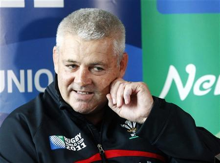 Wales coach Warren Gatland addresses a media conference in Auckand October 13, 2011. REUTERS/Mike Hutchings
