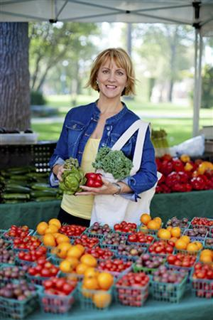 Sharon Palmer, author of ''The Plant-Powered Diet'', poses in Sierra Madre, California in this handout photo taken October 2011. REUTERS/Vanessa Stump/Handout