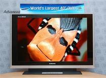 Samsung Electronics's world's first single-sheet, 40-inch active matrix OLED for emissive flat panel TV applications. REUTERS/Samsung Electronics/Handout