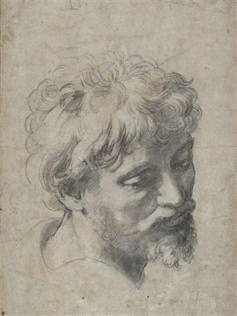 A Raphael drawing titled ''head of a Young Apostle'' is seen in a handout photo. The drawing will go on sale in December with an estimated price between 10 million and 15 million pounds ($16 million and $24 million), auction house Sotheby's said on Tuesday. REUTERS/Sotheby's/Handout