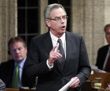 Minister of Natural Resources Joe Oliver speaks during Question Period in the House of Commons on Parliament Hill in Ottawa June 4, 2012. REUTERS/Blair Gable