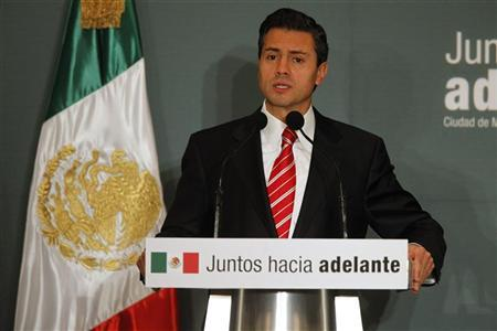 Mexico's President-elect Enrique Pena Nieto speaks during a news conference in Mexico City September 4, 2012. REUTERS/Tomas Bravo