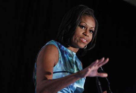 U.S. first lady Michelle Obama speaks at the Human Rights Campaign luncheon in Charlotte, North Carolina, September 5, 2012.