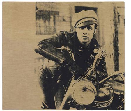 An Andy Warhol silkscreen of actor Marlon Brando, ''Marlon,'' a 1966 silkscreen, is shown in this Christie's handout image on September 5, 2012. REUTERS/Christie's/Handout