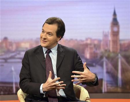 Britain's Chancellor of the Exchequer, George Osborne, speaks on the BBC's Andrew Marr Show in London September 2, 2012. REUTERS/Jeff Overs/BBC/Handout