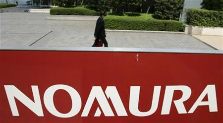 A logo of Nomura Holdings, Japan's largest brokerage, is pictured in Tokyo April 22, 2008. REUTERS/Yuriko Nakao