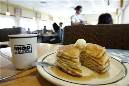 A stack of pancakes are pictured at an IHOP restaurant in Los Angeles August 2, 2011. REUTERS/Mario Anzuoni/Files
