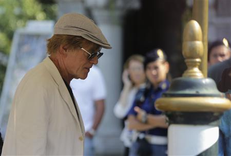 Actor Robert Redford arrives to attend a photocall for the movie ''The company you keep'' at the 69th Venice Film Festival in Venice September 6, 2012. REUTERS/Manuel Silvestri