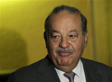 Mexican tycoon Carlos Slim arrives to attend the XVIII Plenary Meeting of the Circulo de Montevideo, or The Montevideo Circle, in Mexico City July 27, 2012. REUTERS/Henry Romero