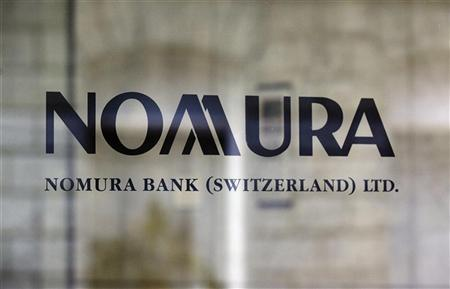 A logo of Nomura Bank Switzerland Ltd. is pictured at a branch in Zurich September 6, 2012. REUTERS/Michael Buholzer