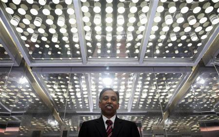 Infosys Chief Executive S.D. Shibulal poses for a picture after an interview with Reuters near his office inside their campus in the Electronic City area in Bangalore September 4, 2012. REUTERS/Vivek Prakash