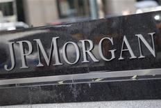 Штаб-квартира JPMorgan в Нью-Йорке, 13 июля 2012 г. Рост мирового частного сектора экономики замедлился в августе, так как небольшое расширение в секторе услуг было нивелировано стагнацией спроса на промышленные товары, показало исследование JPMorgan. REUTERS/Andrew Burton