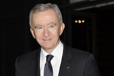 LVMH Chief Executive Bernard Arnault arrives for a news conference to present the group's 2010 results in Paris February 4, 2011. REUTERS/Gonzalo Fuentes