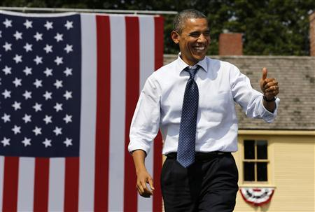 U.S. President Barack Obama attends a campaign event at the Strawbery Banke Museum in Portsmouth, New Hampshire, September 7, 2012. REUTERS/Larry Downing