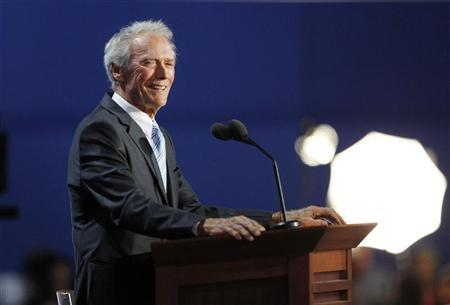 Actor Clint Eastwood addresses the final session of the Republican National Convention in Tampa, Florida, August 30, 2012. REUTERS/Joe Skipper