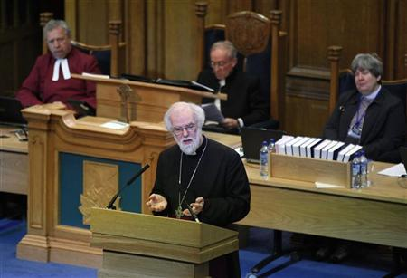 The Archbishop of Canterbury, Rowan Williams, addresses the General Assembly of The Church of Scotland, in Edinburgh, Scotland May 23, 2012. REUTERS/David Moir