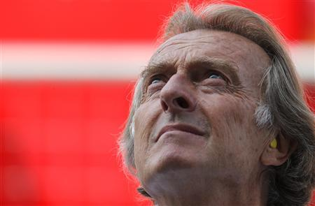 Ferrari Formula One CEO Luca Cordero di Montezemolo looks on during the third practice session of the Italian F1 Grand Prix at the Monza circuit September 8, 2012. REUTERS/Stefano Rellandini