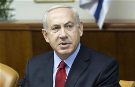 Israel's Prime Minister Benjamin Netanyahu attends the weekly cabinet meeting in Jerusalem September 9, 2012. REUTERS/Menahem Kahana/Pool