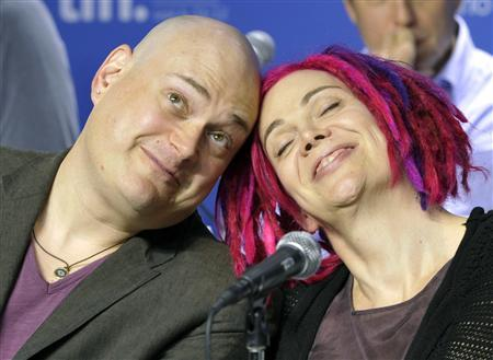Directors Andy (L) and Lana Wachowski attend a news conference for their film ''Cloud Atlas'' at the 37th Toronto International Film Festival September 9, 2012. REUTERS/Mike Cassese